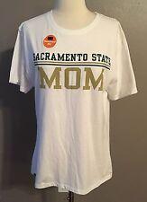 Sacramento State Univ MOM Logo T Shirt Stella Jansport NWT New Sz L Relaxed Fit