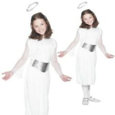 Girls Christmas Angel Nativity Fancy Dress Costume
