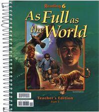 BJU Reading 6 Teacher's Edition Parts 1 & 2 Second Edition - 6th Grade