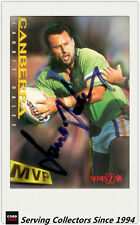 1996 Dynamic Rugby League Series 2 MVP Autographed Card --LAURIE DALEY