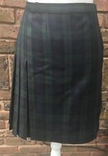 Laura Ashley Wool Checked Casual Skirts for Women