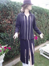 Strick Kostüm schwarz Rock Pullover Gr 36 - 40