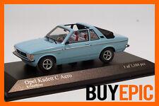 Minichamps 400048130 Opel Kadett C Aero 1:43, blau, limitiert, Modellauto, NEU
