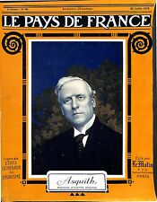 Portrait Herbert Henry Asquith Prime Minister of the United Kingdom UK 1915 WWI