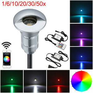 1/6/10/20/30/50pcs RGB Smart Wifi Half Moon Outdoor LED Deck Step Stairs Lights