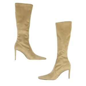 Donald J Pliner Women Brown Suede Knee High Square Toe Couture Leola Boots Sz 6