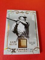 BABE RUTH GAME USED BAT CARD #d2/5 LEAF IMMORTAL GOLD #YB45 NEW YORK YANKEES