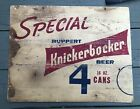 Rare Vintage Ruppert  Knickerbocker Beer Brewing Co Store Sign 4 16 Oz Cans