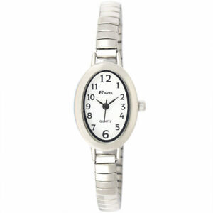 Ladies Expandable Petit  Watch with Easy Read Silver Colour Oval Dial by Ravel