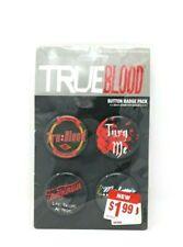 TRUEBLOOD Button Badge Pack 4 Unique Buttons NIP