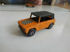 Matchbox Superfast Field car in orange with finish decal