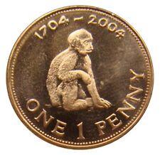 (a55) - gibraltar - 1 Penny 2004-mono Monkey-UNC-km # 1046