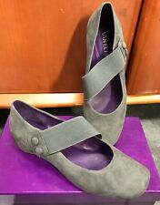 Vaneli Purple Collection Womens Leather Mabel Mary Jane Wedge size 9.5