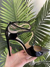 Jimmy Choo Lancer Black Patent Sandal  Size 6/39 New RRP £495