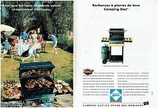 PUBLICITE ADVERTISING 115  1993  CAMPING GAZ barbecue pierres de lave  (2p)