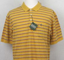Original Penguin Polo Shirt Short Sleeve yellow mustard with striped XXL/TTG