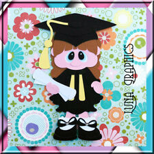 GRADUATION GIRL EMBELLISHMENT Paper Piecing card making & scrapbooking