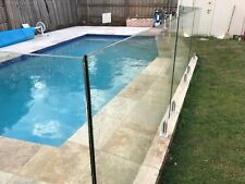 Glass Pool Fencing installation of Frameless and Semi Frameless