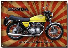 Honda 400 Four SUPERSPORT MOTO Metal Señal clásico japonés motos