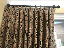 4 High Quality Custom Made Tuscan Style Drapery Panels With Tieback New!