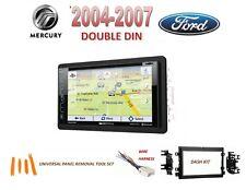 2004-2007 FORD MERCURY 2 DIN CAR STEREO KIT, SIRIUS XM GPS NAV TOUCHSCREEN DVD