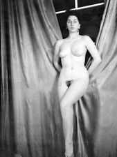 Vintage 1950s (120 Format) Nude Pretty Woman Art Fitness Model Negative Natural
