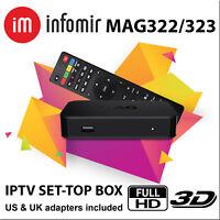 MAG 322 Latest Original Linux IPTV OTT Box Infomir mag 254 Mag322 BEST PRICE
