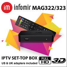 MAG 322 / 323 Infomir HEVC 3D Media Streamer IPTV OTT SetTop Box FREE SHIPPING