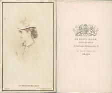 CDV Cantatrice italienne Adelina Patti vintage CDV albumen carte de visite,  C