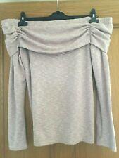 Dorothy Perkins Womens Off the Shoulder Pink Long Sleeve Jumper - Size UK 14
