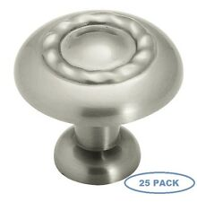 Sonoma Cabinet Hardware Classic Rope Knob Brushed Nickel Kitchen 25 Pack 1.25""