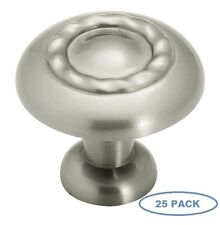 Sonoma Cabinet Hardware Classic Rope Knob Brushed Nickel Kitchen 25 Pack 1.25