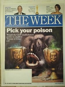 POTUS DONALD TRUMP SIGNED AUTOGRAPHED THE WEEK PRESIDENTIAL MAGAZINE FEB 2016