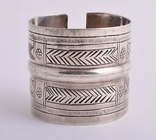 Vintage berber Bedouin silver bracelet Cuff/north Africa