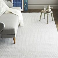Wavy Stripe Sculpted Handmade Contemporary Style Woolen Rug & Carpet