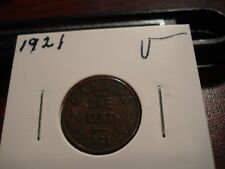 1921 - Canada Penny - Circulated - Nice Canadian one cent coin