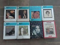 Nice Lot Of Vintage 8 Eight Track Cassette Tapes NICE!!!