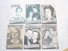 Lot de 6 revues cinéma ancienne MON FILM