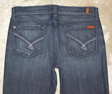 7 for all Mankind Bootcut Jeans Wm Sz 30  Rothchild Pocs Dark Distressed