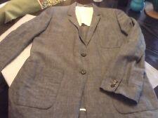 Margaret Howell Black/White Cross Check Linen Jacket - Size 14