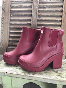 Hunter heeled wellies Size 4