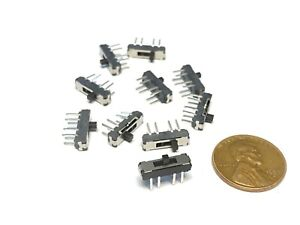 10  MSS23D18 MSS-23D18 Small on off on 3 position 8Pin 2P3T Slide Switch pcb a34