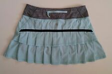 VEUC lululemon Run Pace Setter Skirt SZ 4 Aquamarine Tennis dress skorts short