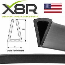 Large Black Rubber U Channel Edging Edge Trim Seal Square Protection PVC Flex