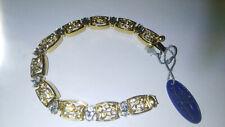 Attwood & Sawyer Bracelet - Diamond & Gold Design 20cm Long.