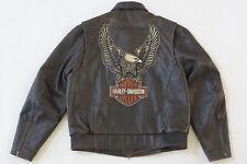 Harley Davidson Men's Legendary Eagle Vintage Brown Leather Jacket XL 98127-08VM