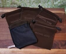 "New Michael Kors Small Brown Velour Dust Bags (4.5"" x 4.5"")....$5 Each/Min of 2"
