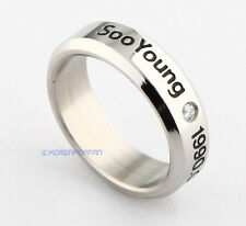 SNSD girls Generation SOO YOUNG STAINLESS STEEL RING NEW FREE SHIPPING