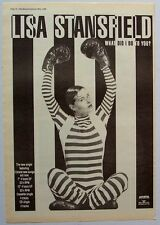 LISA STANSFIELD 1990 Poster Ad WHAT DID I DO YO YOU