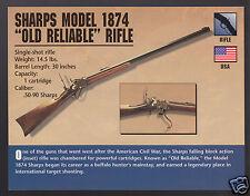 SHARPS MODEL 1874 OLD RELIABLE RIFLE Gun Atlas Classic Firearms PHOTO CARD